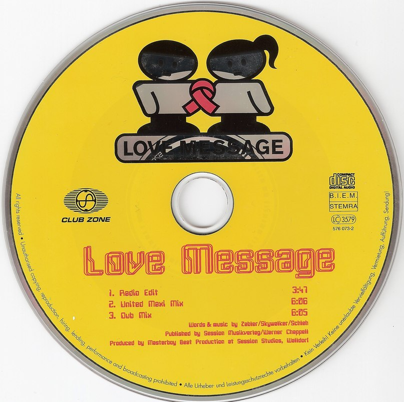 Love message (1996) Scooter, E-Rotic, Masterboy, Fun factory, Mr.President, U-96