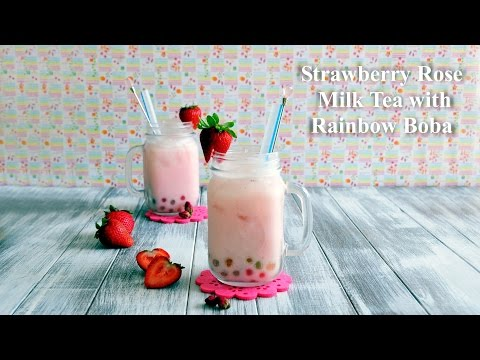 How to Make Strawberry Rose Milk Tea