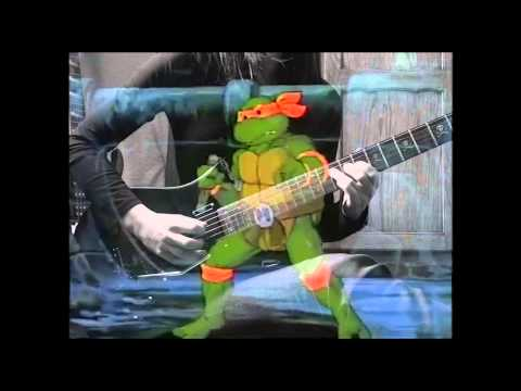 Dennis C. Brown and Chuck Lorre - Teenage Mutant Ninja Turtles Theme (guitar play-along)