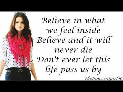 Live Like There's No Tomorrow-Selena Gomez & The Scene(Lyrics On Screen)