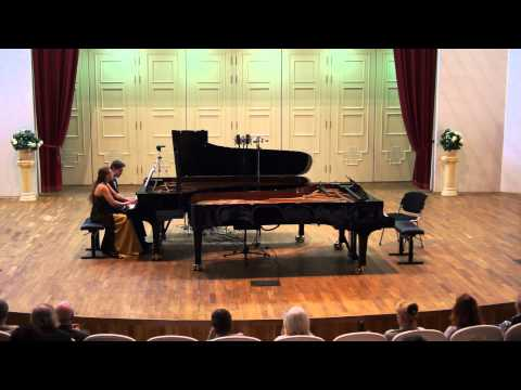 4. Rachmaninov. Pieces op. 11 (4 hands): Russian song, Scherzo, Gloria. E. Endeberya - V. Chepinoga