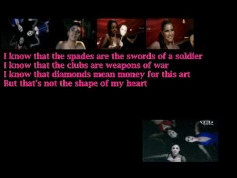 Sugababes-Shape (of my heart) with Lyrics