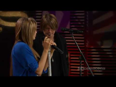 Miley Cyrus and Billy Ray Cyrus - Butterfly Fly Away - AOL Music Sessions - HQ